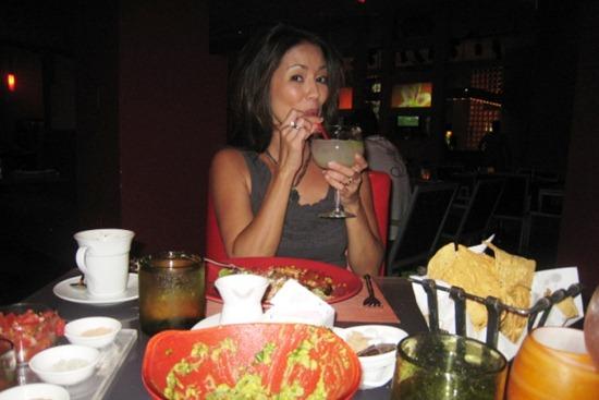 2011 07 - Vegas drinking margarita