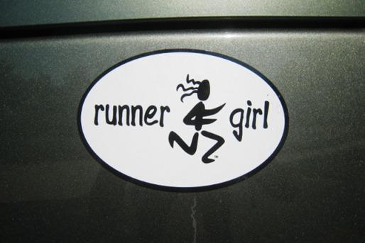 Runner Girl Magnet
