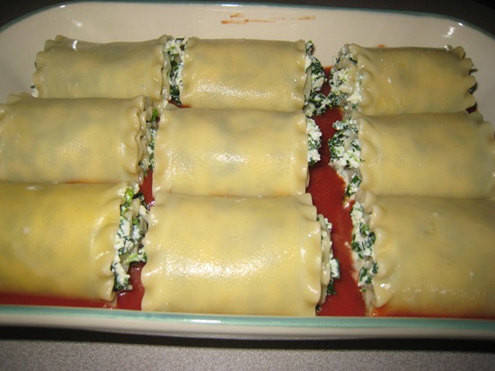 spinach lasagna rolls precook