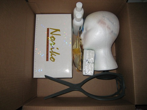 wig in box
