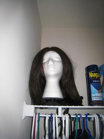 wig in closet
