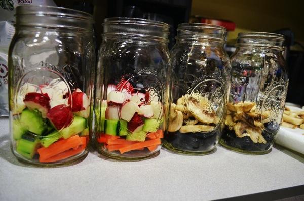 Mason Jar Salads Layers 1